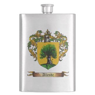 Allende Coat of Arms Hip Flasks
