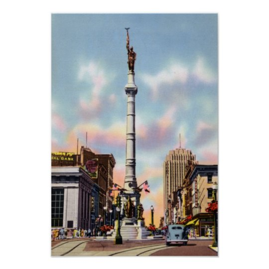 Allentown Pennsylvania Centre Square Poster