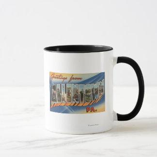 Allentown, Pennsylvania - Large Letter Scenes Mug