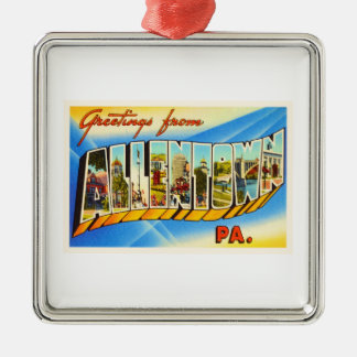 Allentown Pennsylvania PA Vintage Travel Souvenir Christmas Ornament