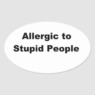Allergic Oval Stickers