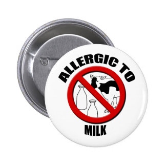 Allergic to Milk Medical Alert Warning Sml Button