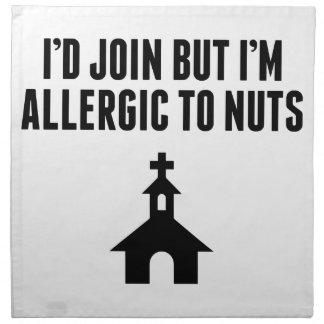 Allergic to Nuts Napkin