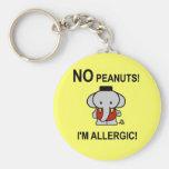 Allergic to Peanuts Key Chain