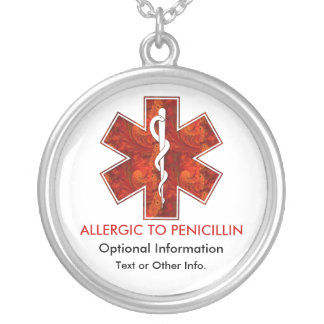Allergic to Penicillin Medical   Necklace