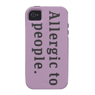 """Allergic to people"" Vibe iPhone 4 Covers"