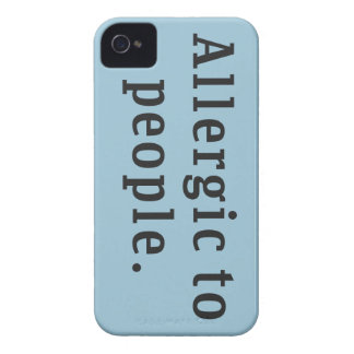 """""""Allergic to people"""" iPhone 4 Covers"""