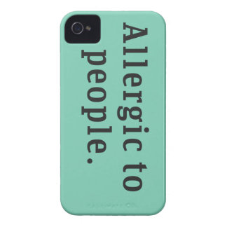 """""""Allergic to people"""" iPhone 4/4s Case"""