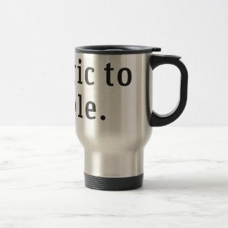 """Allergic to people Travel Mug"