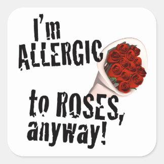 Allergic to Roses Anti Vday Sticker