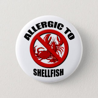 Allergic to Shellfish Medical Alert Std Button