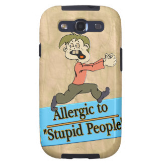 ALLERGIC TO STUPID PEOPLE GALAXY S3 COVERS