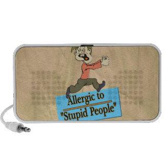 ALLERGIC TO STUPID PEOPLE iPod SPEAKER