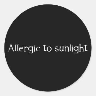 Allergic to Sunlight Round Sticker