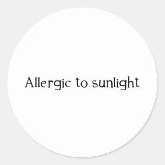 Allergic to Sunlight Round Stickers