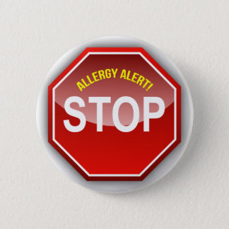 ALLERGY ALERT - add custom text! 6 Cm Round Badge