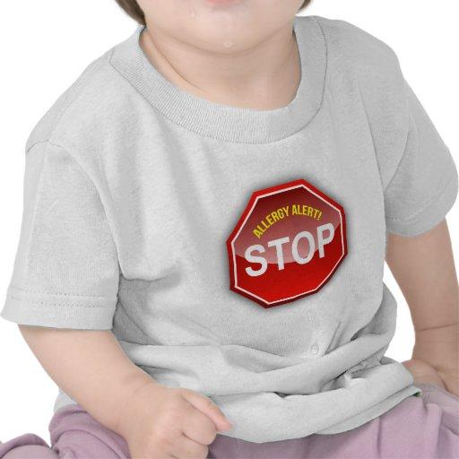 ALLERGY ALERT - add custom text! Tshirts