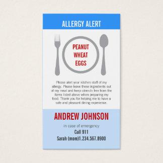 Allergy Alert Blue Sky Duotones Business Card