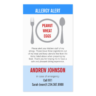 Allergy Alert Blue Sky Duotones Pack Of Standard Business Cards