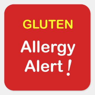 Allergy Alert - GLUTEN. Sticker