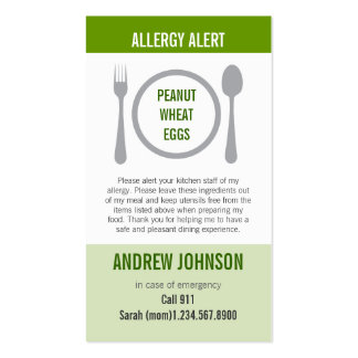 Allergy Alert Grass Duotones Pack Of Standard Business Cards