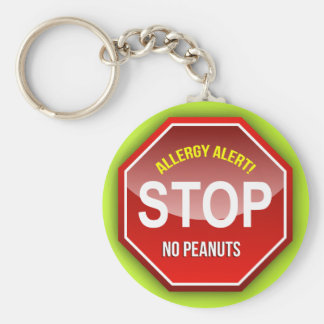 Allergy Alert : No Peanuts Please! Key Ring