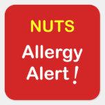 Allergy Alert - NUTS. Sticker