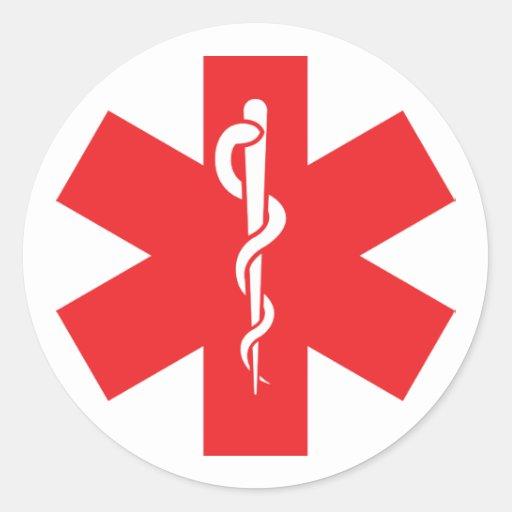 Allergy Alert Sticker Label