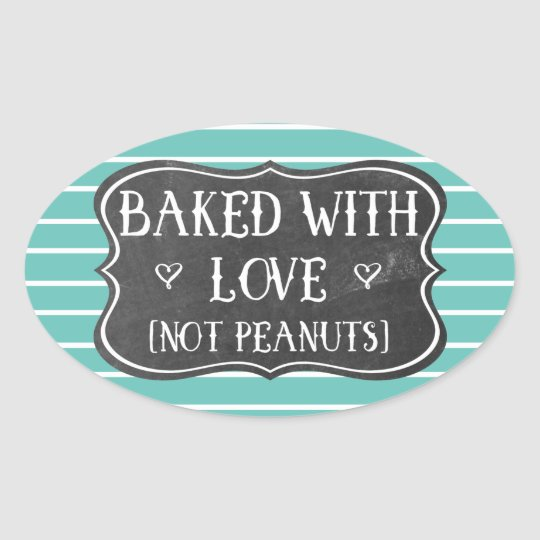 Allergy Baked With Love Not Peanuts Nut Free