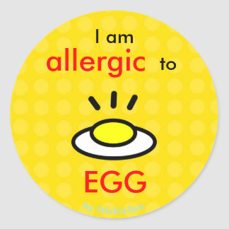 Allergy_Egg Classic Round Sticker