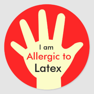 Allergy_Latex Classic Round Sticker