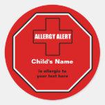 Allergy Medical Alert Custom Large Sticker