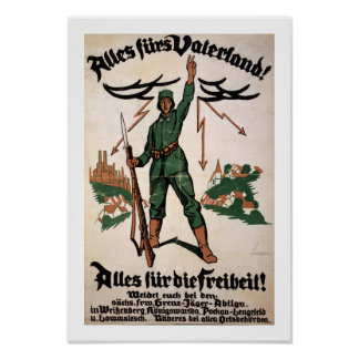 Alles Furs Vaterland WWI Poster (white)