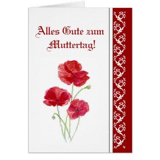Alles Gute zum Muttertag Red PoppiesGarden Flowers Card