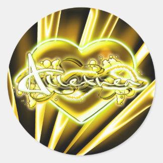 Allethea Round Sticker