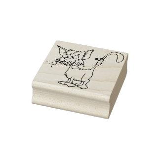 alley cat art stamp