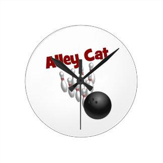 Alley Cat Round Clocks