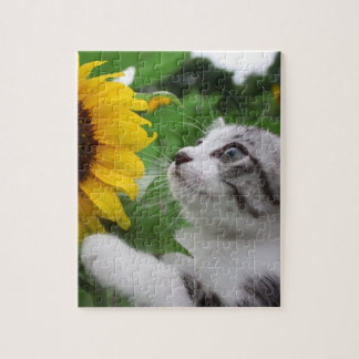 Alley cat niyan good fortune< Sunflower > Puzzles