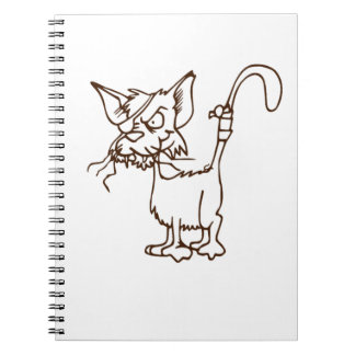 Alley Cat Tough Kitty Cartoon: Notebooks