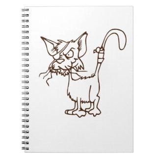 Alley Cat Tough Kitty Cartoon: Notebooks