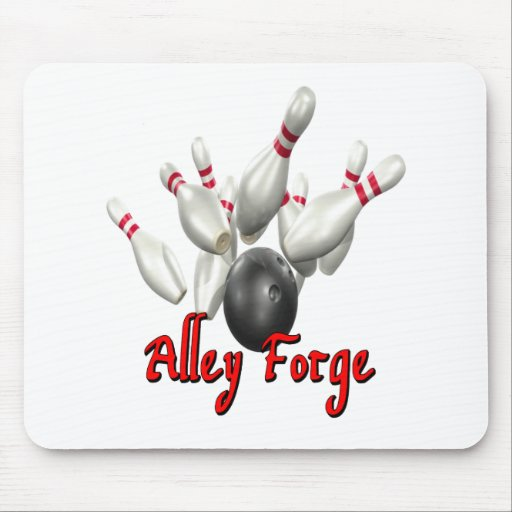 Alley Forge Bowling Shirt Mouse Pad