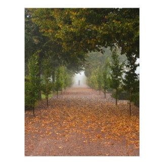 Alley in fog flyer design