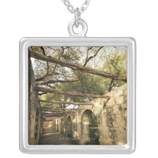 Alley in San Antonio, Texas Silver Plated Necklace