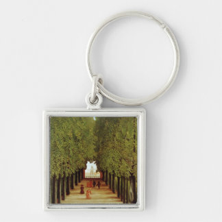 Alleyway in the Park of Saint-Cloud, 1908 (oil on Silver-Colored Square Key Ring