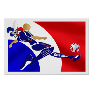 Allez Les Bleus French Football Volley gifts Poster