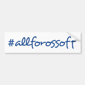 #AllForOssoff Blue Text Bumper Sticker