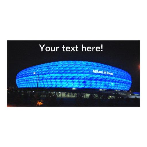 Allianz Arena at night, Munich Custom Photo Card