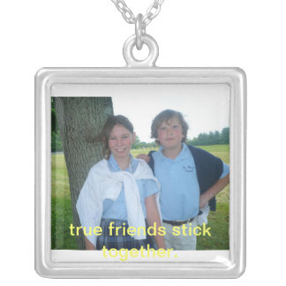 allie&ryon, true friends stick together. necklace