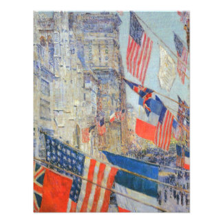 Allies Day, May 1917 Hassam, Vintage Impressionism Personalized Announcement