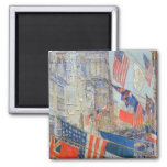 Allies Day, May 1917 Hassam, Vintage Impressionism Magnets